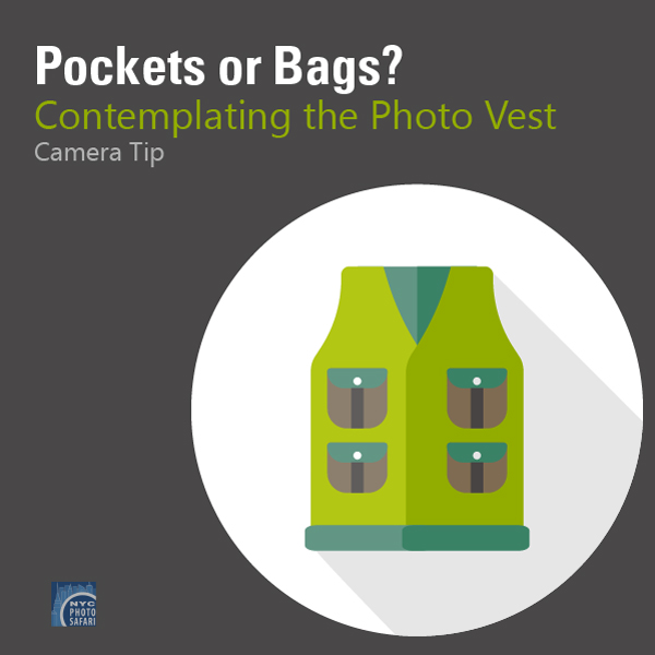 photo vests and camera bags for photo tours