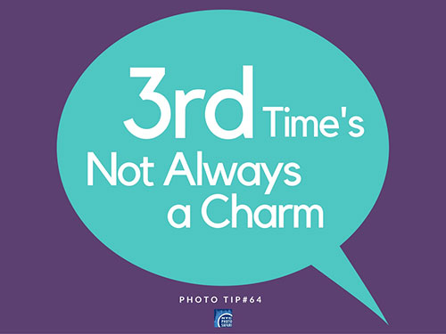 rule of thirds photo tip
