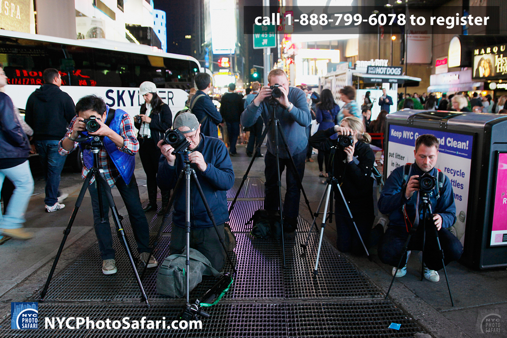 Times Square Night Photography Work Shop