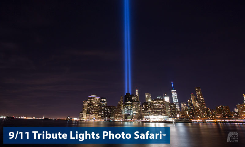 911 tribute lights nyc photographs